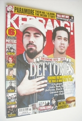 <!--2013-05-04-->Kerrang magazine - Deftones cover (4 May 2013 - Issue 1464