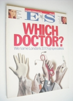 Evening Standard magazine - London's 100 Top Specialists cover (April 1992)