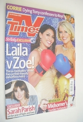 <!--2009-10-24-->TV Times magazine - Laila Rouass and Zoe Lucker cover (24-