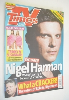 <!--2006-09-30-->TV Times magazine - Nigel Harman cover (30 September-6 Oct