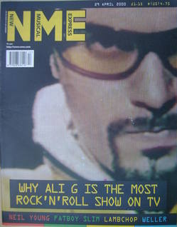 <!--2000-04-29-->NME magazine - Ali G cover (29 April 2000)