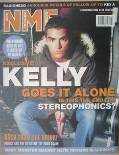 <!--2000-11-25-->NME magazine - Kelly Jones cover (25 November 2000)