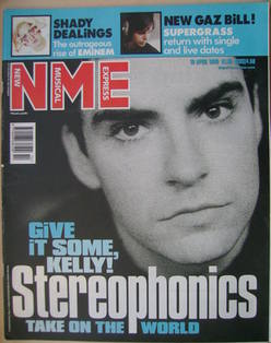 NME magazine - Kelly Jones cover (10 April 1999)