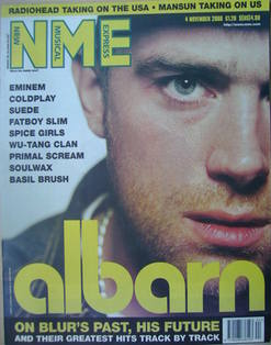 <!--2000-11-04-->NME magazine - Damon Albarn cover (4 November 2000)
