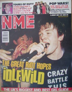 <!--1999-01-09-->NME magazine - Roddy Woomble cover (9 January 1999)
