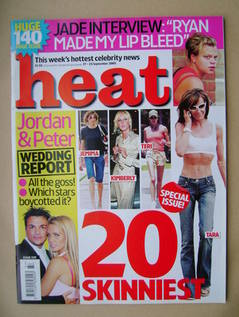 <!--2005-09-17-->Heat magazine - 20 Skinniest cover (17-23 September 2005 -