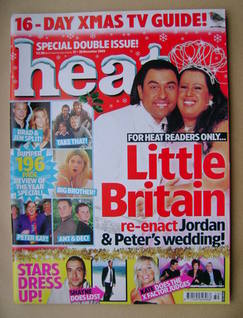 <!--2005-12-17-->Heat magazine - David Walliams and Matt Lucas cover (17-30