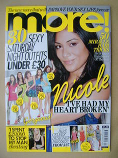 <!--2009-07-27-->More magazine - Nicole Scherzinger cover (27 July 2009)