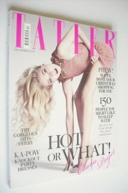 <!--2012-12-->Tatler magazine - December 2012 - Clara Paget cover