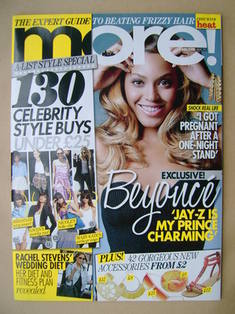 <!--2009-06-01-->More magazine - Beyonce Knowles cover (1 June 2009)