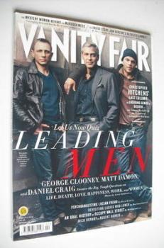 Vanity Fair magazine - Daniel Craig, George Clooney and Matt Damon cover (February 2012)
