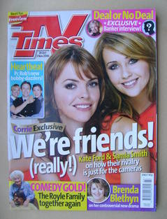 <!--2006-10-28-->TV Times magazine - Kate Ford and Samia Smith cover (28 Oc