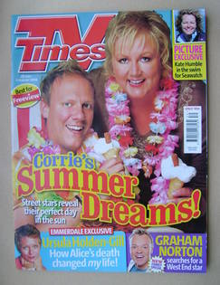 <!--2006-07-29-->TV Times magazine - Antony Cotton and Sue Cleaver cover (2