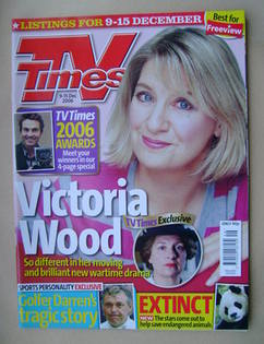<!--2006-12-09-->TV Times magazine - Victoria Wood cover (9-15 December 200