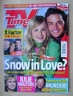 <!--2006-12-16-->TV Times magazine - Tina O'Brien and Ryan Thomas cover (16