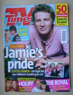 <!--2006-09-16-->TV Times magazine - Jamie Oliver cover (16-22 September 20