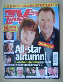 <!--2006-09-02-->TV Times magazine - Caroline Quentin and Alexander Armstro