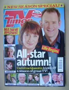 <!--2006-09-02-->TV Times magazine - Caroline Quentin and Alexander Armstro