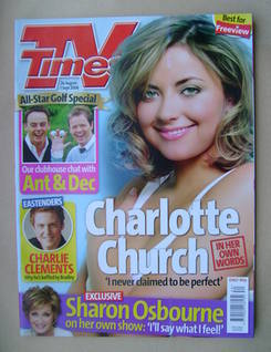 <!--2006-08-26-->TV Times magazine - Charlotte Church cover (26 August-1 Se