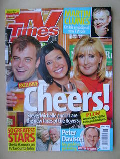<!--2006-09-09-->TV Times magazine - Simon Gregson, Kym Ryder and Beverley