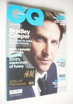 British GQ magazine - April 2013 - Bradley Cooper cover