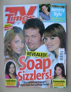 <!--2006-08-05-->TV Times magazine - Samia Smith, Bill Ward and Kate Ford c