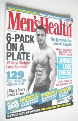 <!--2009-06-->British Men's Health magazine - June 2009 - Marco Dapper cove
