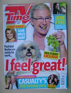 <!--2006-09-23-->TV Times magazine - Paul O'Grady cover (23-29 September 20