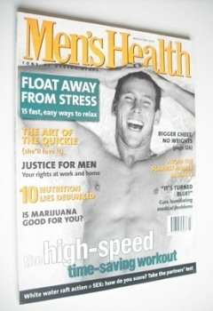 British Men's Health magazine - March 1997 - Oliver Lange cover
