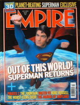 <!--2006-07-->Empire magazine - Superman cover (July 2006 - Issue 205)