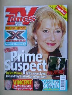 <!--2006-10-14-->TV Times magazine - Helen Mirren cover (14-20 October 2006