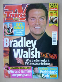 <!--2006-07-22-->TV Times magazine - Bradley Walsh cover (22-28 July 2006)