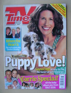<!--2006-07-15-->TV Times magazine - Gaynor Faye cover (15-21 July 2006)