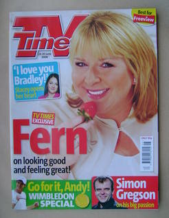 <!--2006-06-24-->TV Times magazine - Fern Britton cover (24-30 June 2006)