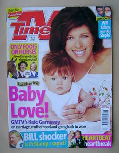 <!--2006-07-01-->TV Times magazine - Kate Garraway cover (1-7 July 2006)