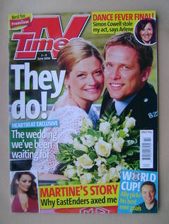 <!--2006-06-03-->TV Times magazine - Sophie Ward and Jonathan Kerrigan cove