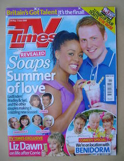 <!--2009-05-30-->TV Times magazine - Nina Toussaint-White and Charlie Cleme