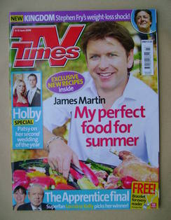 <!--2009-06-06-->TV Times magazine - James Martin cover (6-12 June 2009)