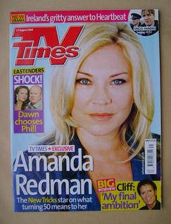 <!--2009-08-01-->TV Times magazine - Amanda Redman cover (1-7 August 2009)