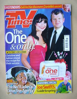 <!--2009-03-14-->TV Times magazine - Christine Bleakley and Adrian Chiles c