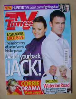 <!--2009-01-17-->TV Times magazine - Charlie Brooks and Scott Maslen cover