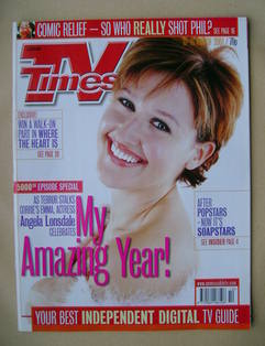 <!--2001-03-10-->TV Times magazine - Angela Lonsdale cover (10-16 March 200