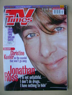<!--2001-02-17-->TV Times magazine - Jonathan Ross cover (17-23 February 20
