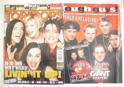 <!--1999-03-->Top Of The Pops magazine - B*Witched cover (March 1999)