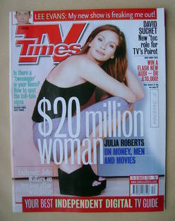 <!--2001-03-24-->TV Times magazine - Julia Roberts cover (24-30 March 2001)