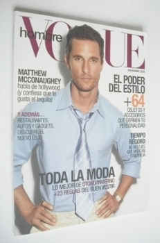 Vogue Hombre magazine - Matthew McConaughey cover (November 2005)