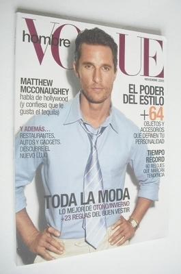 Vogue Hombre magazine - Matthew McConaughey cover (November 2005)