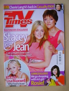 <!--2009-06-13-->TV Times magazine - Lacey Turner and Gillian Wright cover
