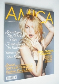 Amica magazine - Claudia Schiffer cover (February 2008)