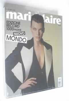 Italian Marie Claire magazine - October 2007 - Milla Jovovich cover
